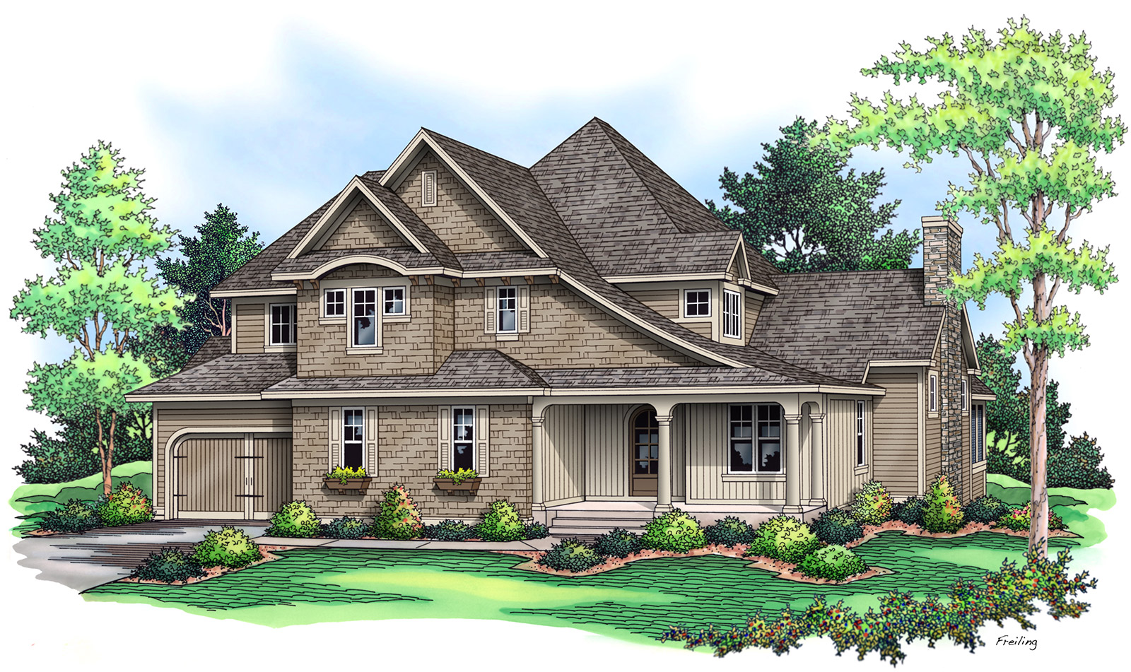 ... One Story French Country House Plans 11697 Aster Way Woodbury Mn 55129  Artisan Home Tour ...